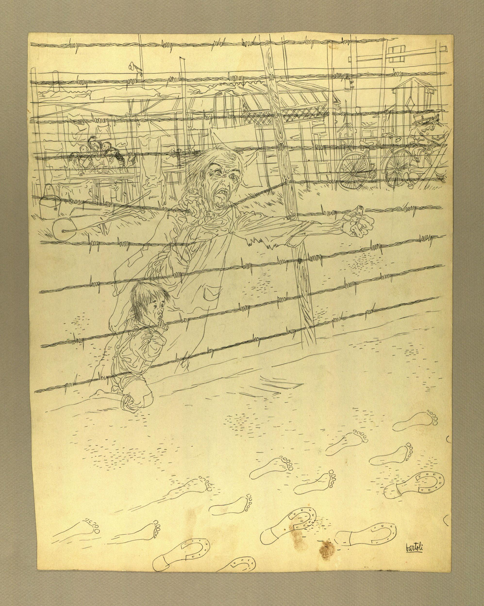 """Adiós papá"" Tinta sobre cartolina 1939-44"
