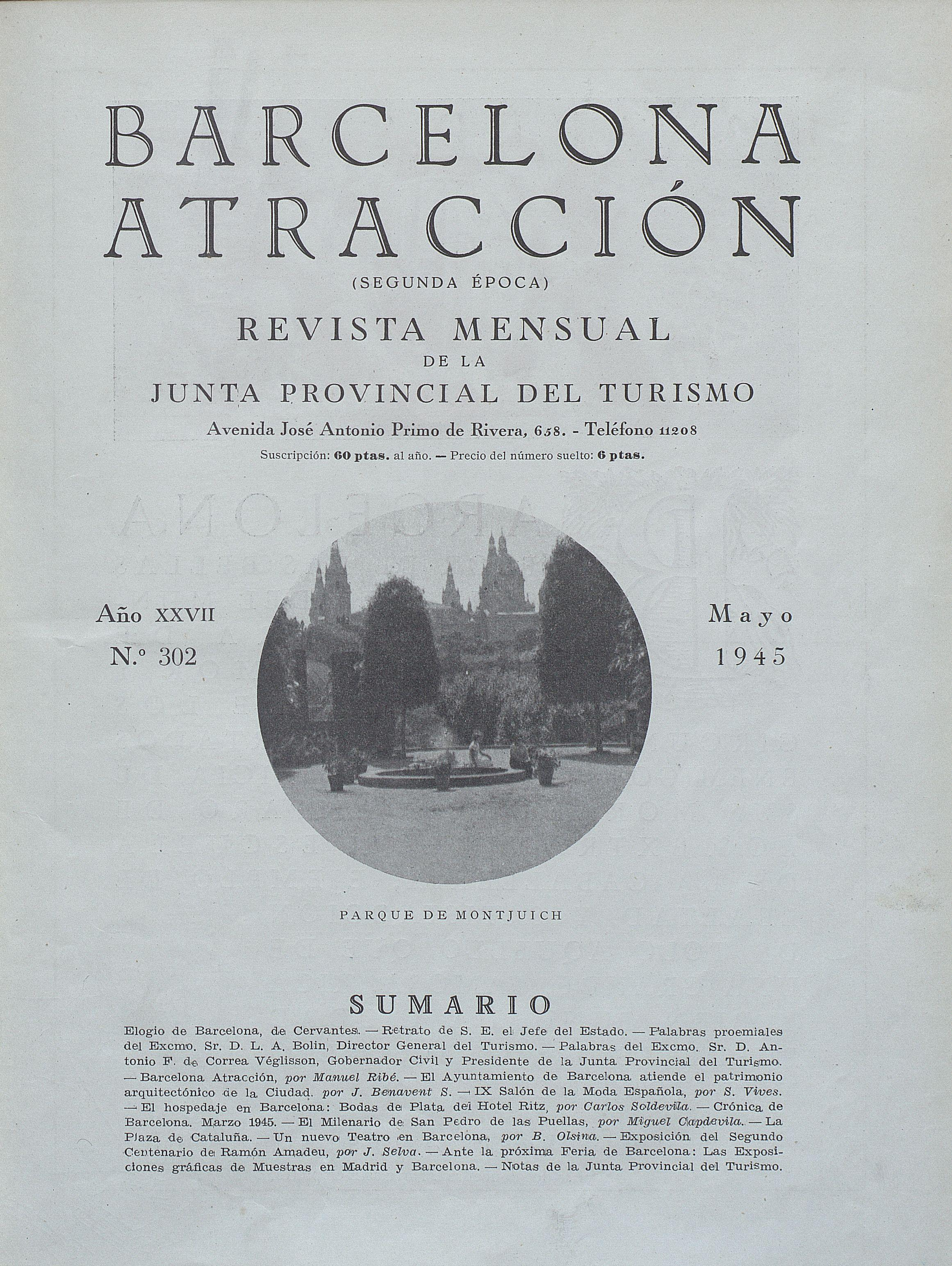 AHCB, Periodicals Library, Barcelona attraction, May 1945