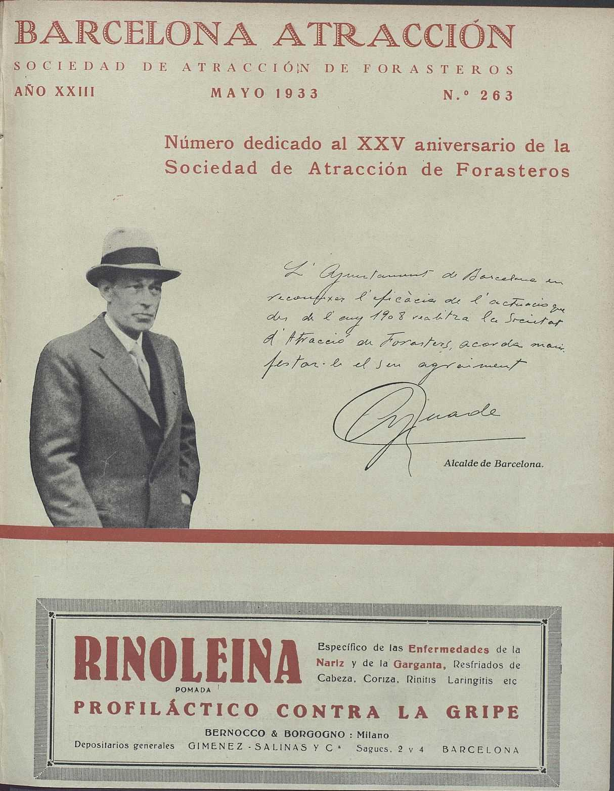 AHCB, Periodicals Library,  Barcelona attraction, May 1933