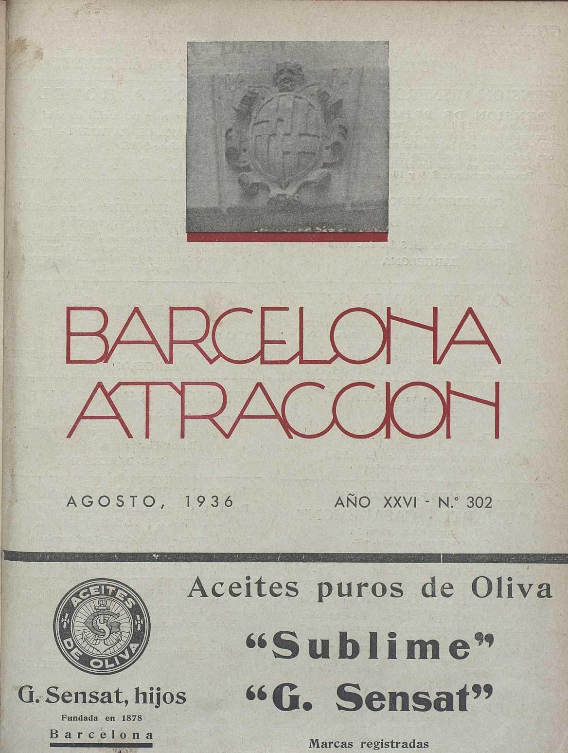 AHCB, Periodicals Library, Barcelona attraction, August 1936