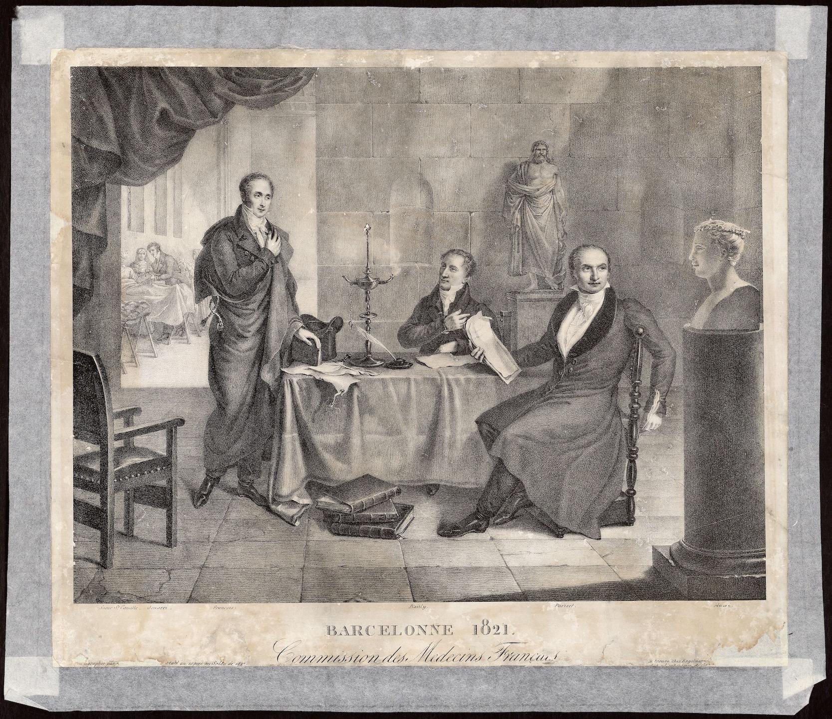 Barcelonne 1821. Commission Des Medecins Français. AHCB 18437