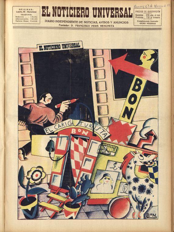 """imatge de El Noticiero Universal, """"Complemento ilustrado"""", 28-3-1930."""