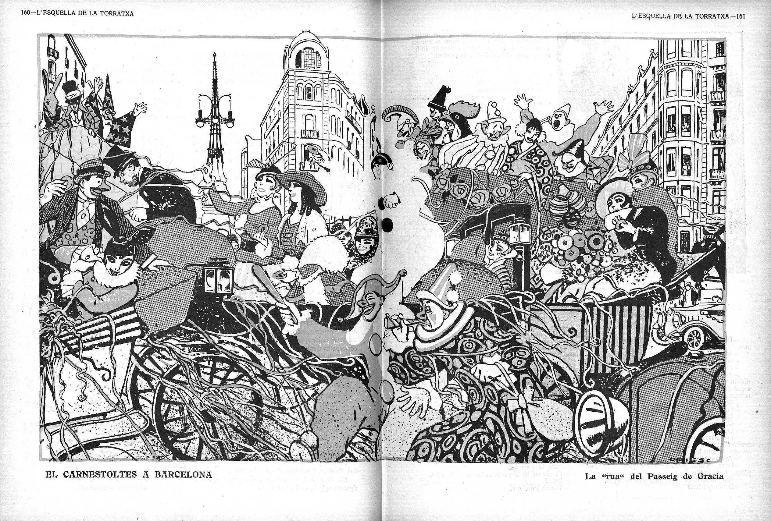 Esquella de la Torratxa, L'. Núm. 1940, 3 maç 1916, pàgina 160. Il·lustració de Ricard Opisso.
