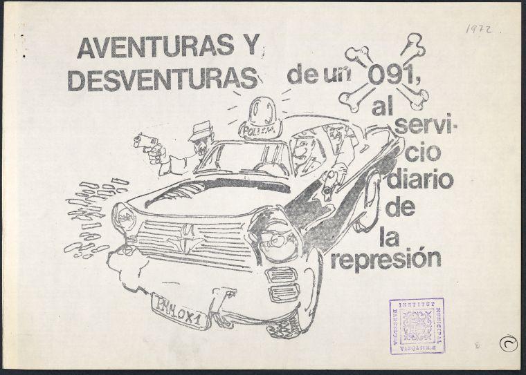 Portada del còmic editat per l'Organización Comunista de España - Bandera Roja a Barcelona el setembre del 1972