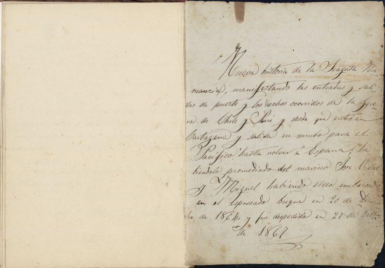 Document manuscrit. Nueva historia de la Fragata Numancia..., AHCB. Ms. A-350