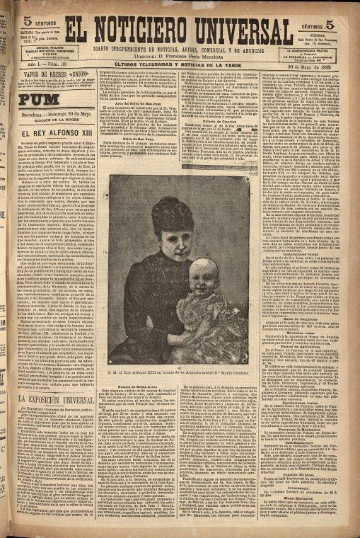 Imatge El Noticiero Universal, 20-5-1888