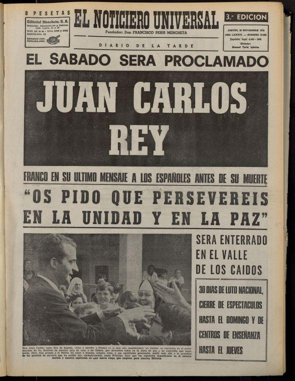 Imatge de El Noticiero Universal, 29-11-1975