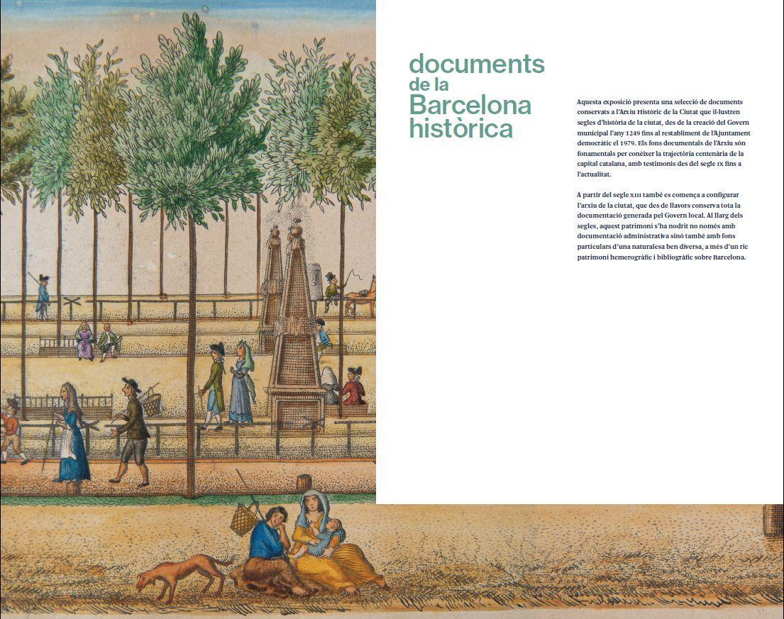 Plafó de presentació de l'exposició, amb la imatge triada per la comunicació de l'exposició