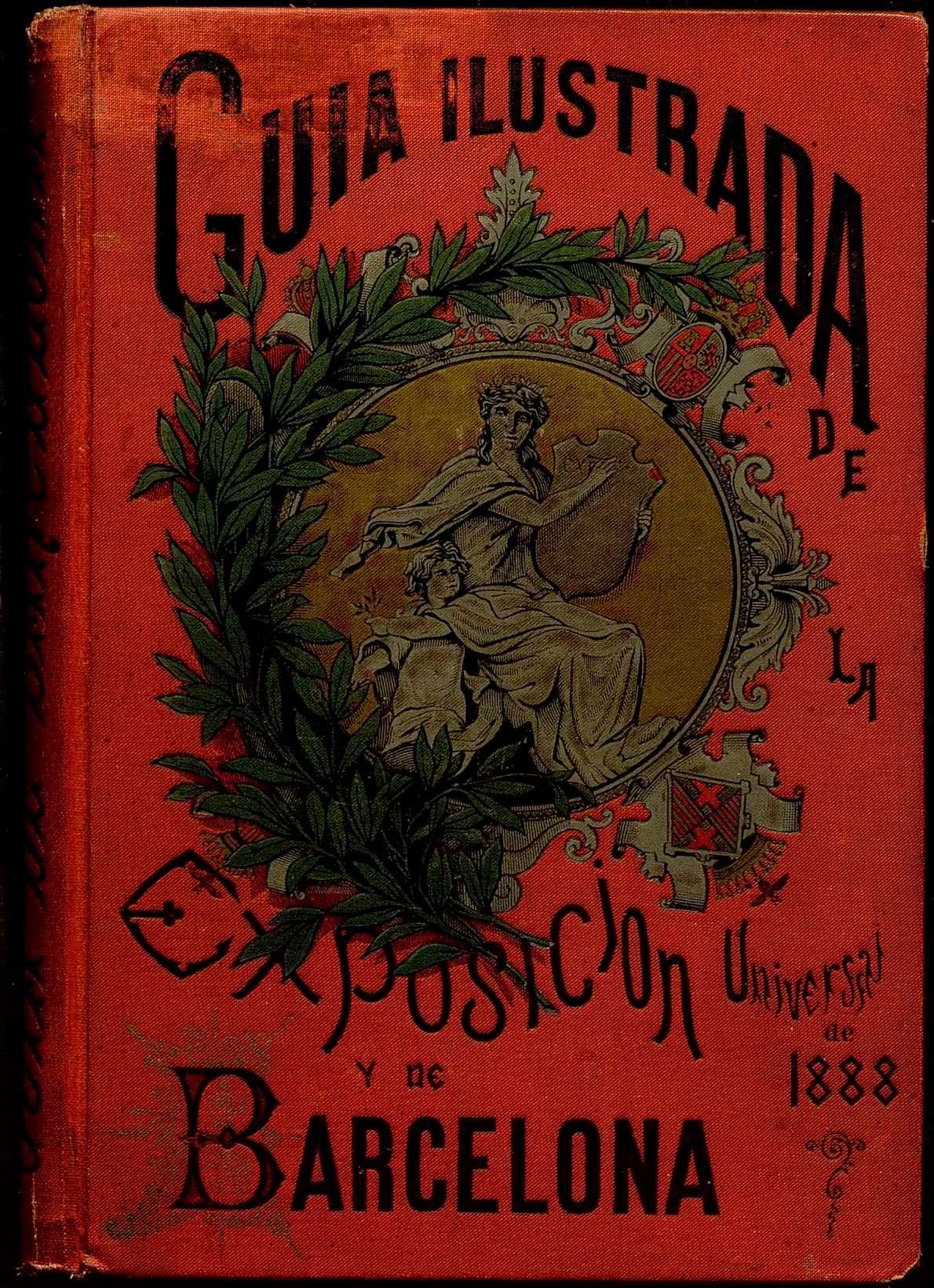Coberta cromolitografiada de la Guía Ilustrada, de Valero de Tornos. Lit. S.Krakow, París.