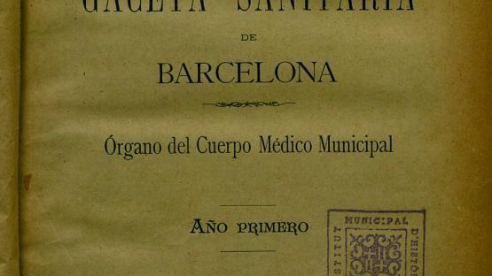 Gaceta sanitaria de Barcelona : revista científica mensual: órgano del Cuerpo Médico Municipal. Núm. 1 (10 de setembre 1888) portada