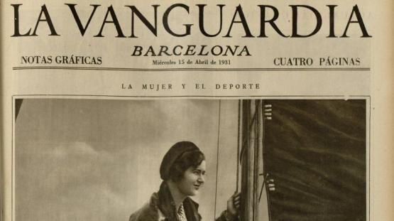 """Les """"Notas gràficas"""" del diari  La Vanguardia, del 15 d'abril de 1931 dediquen la primera pàgina a... l'esport nàutic"""