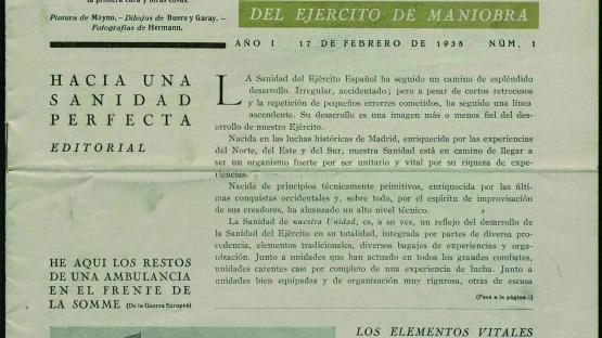 La Voz de la sanidad del ejército de maniobra. Núm. 1 (17 febrer 1938) portada