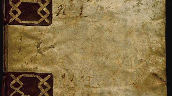 Llibre de consells de la Confraria de mestres fusters de Barcelona. Portada. AHCB3-580/5D.142- 3 (1624)