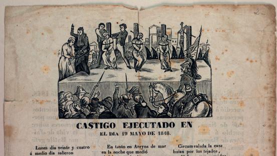 Romanços de la crónica de l'acció de segrestadors i la seva execució a Sants el 1848