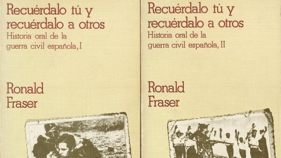 Cobertes dels dos toms de la publicació Recuérdalo tú y recuérdalo a otros, de Ronald Fraser