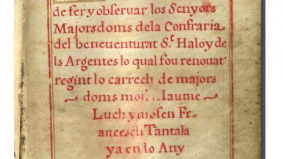 Llibre d'advertiments (1606) 5D131-02 fol. 5r.