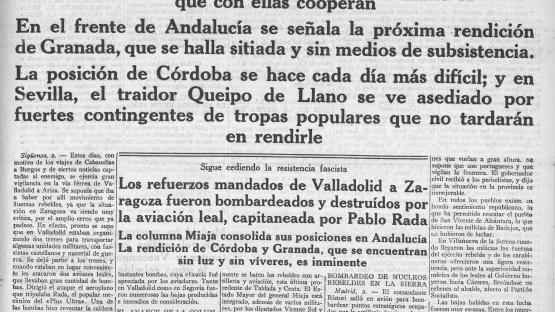 La  Hoja oficial del lunes de Barcelona, va ser durant molts anys l'únic diari que es  publicava els dilluns. Edició del 3 d'agost de 1936, el primer dia amb les notícies de la guerra.   AHCB. Hemeroteca. R 1926 Fol
