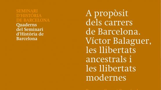 Cubierta de la publicación Quaderns del Seminari d'Història de Barcelona número 28