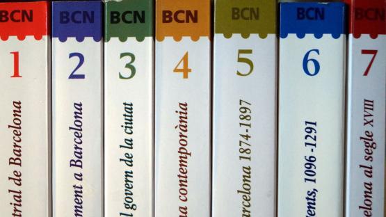 Varios ejemplares de la colección Barcelona Biblioteca Histórica