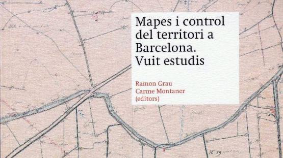 Detall de la portada de la publicació Mapes i control del territori. Vuit estudis