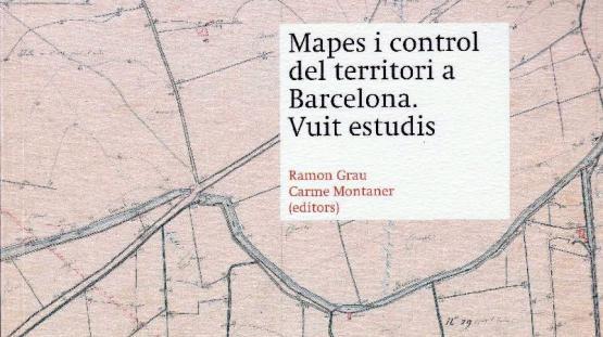 Detalle de la portada de la publicación Mapes i control del territori. Vuit estudis
