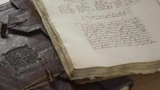 Fotografia de los Registres de deliberacions, vol. 101 i 021, de 1591 y 1471-1473