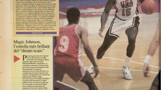 Diari de Barcelona, 29 de juliol de 1992. Contraportada del suplement especial Els Jocs de Barcelona del dia 28 de juliol de 1992.