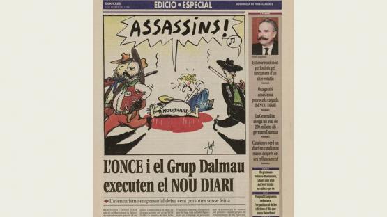 Nou diari: edició especial/ assemblea de treballadors. Dimecres, 2 de febrer de 1994. L'assemblea de treballadors del Nou diari, va publicar uns números especials denunciant les raons del tancament del mitjà.
