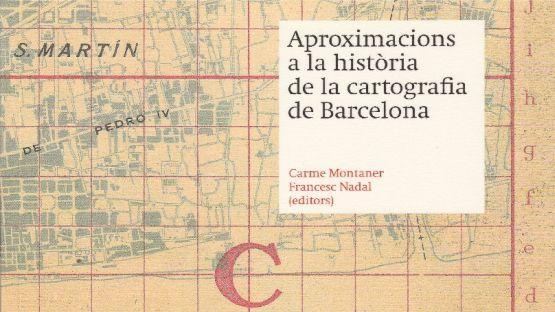 Detall de la portada Aproximacions a la història de la cartografia de Barcelona