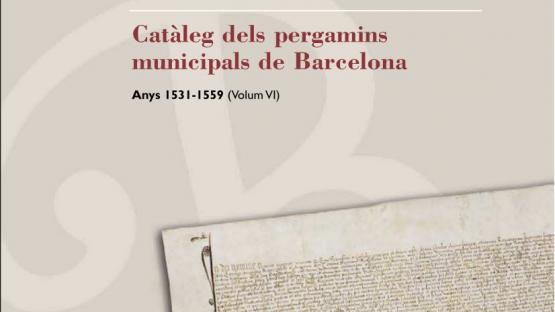 Detall de la portada del nº 6 dels pergamins municipals