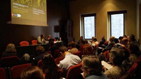 Fotografía de sesión del decimocuarto Congreso de Historia de Barcelona, el 25 de noviembre de 2015