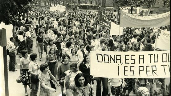 Manifestació feminista.1977.