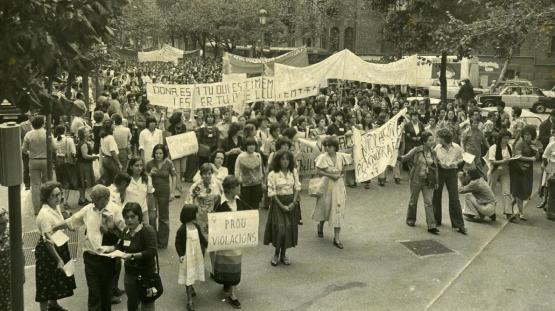 Manifestació feminista. 1977.