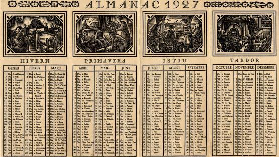 Pàgina de l'Almanac de 1927