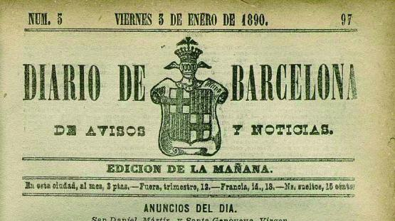 Diario de Barcelona. Núm. 3, 3 enero 1890.