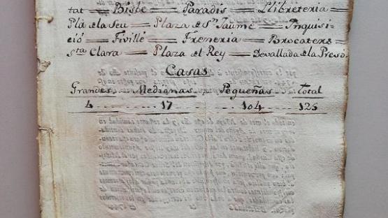 Documento transcrito que es la Portada del cuaderno dedicado al Quarter 3- Barrio 2. de la Catedral