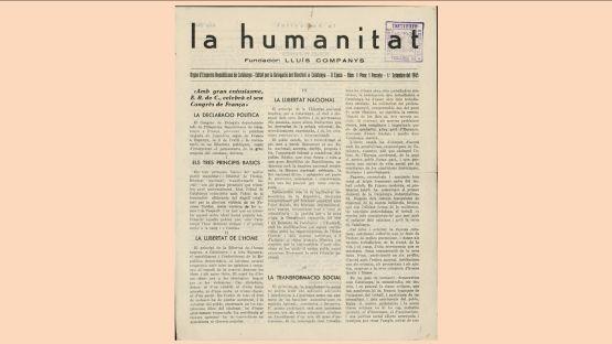 Humanitat, núm. 1 del 1 de setembre 1945