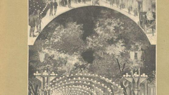 Poster for the La Mercè Festivities, 1871