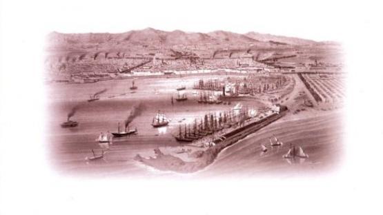 Detall de la portada de La formació del cinturó industrial de Barcelona de la col·lecció Barcelona Biblioteca Històrica