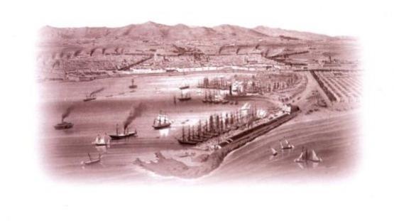 Detalle de la portada de La formació del cinturó industrial de Barcelona de la colección Barcelona Biblioteca Histórica