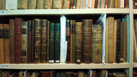 Detall de dipòsit de la biblioteca de l'Arxiu Històric de la Ciutat de Barcelona