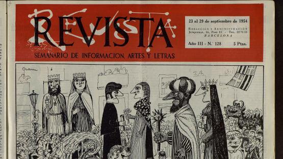 Revista : semanario de actualidades, artes y letras. Núm. 128, 23 setembre 1954.