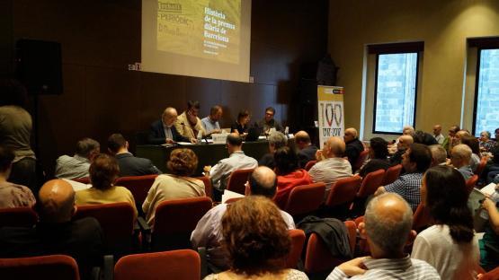 Fotografia de sessió del quinzè Congrés d'Història de Barcelona, el 4 d'octubre de 2017