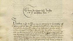 Anotació en el Registre deliberacions de març de 1433