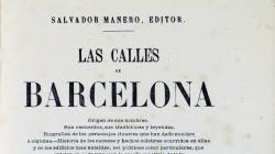 Portada de Las Calles de Barcelona, de Victor Balaguer, del 1865