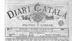 Portada del número 1 del Diari Català del 4 de maig de 1879