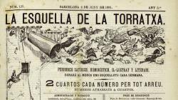 Portada de l'Esquella Torratxa número 125, del 4 de juny de 1881 - AHCB
