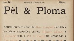 Portada de la revista Pel i Ploma número 22, de 28 d'octubre de 1899