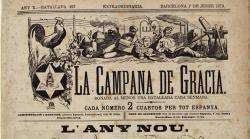 Portada de La Campana de Gracia de l'1 de gener de 1879