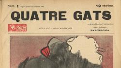 Portada del número 1 de la revista Quatre Gats de la segona setmana de febrer 1899 - AHCB